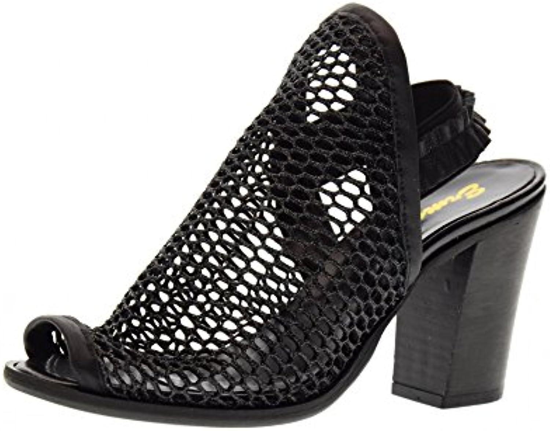 ERMAN'S 145 Zapatos de la Sandalia de Mujer Negro