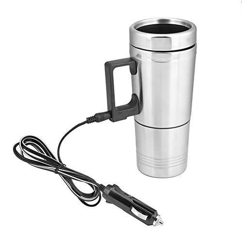 Taza eléctrica - Taza de calefacción de 200 ML Caldera eléctrica Termo de Taza de Viaje para automóvil de 12 voltios para café hirviendo Agua de té, Acero Inoxidable