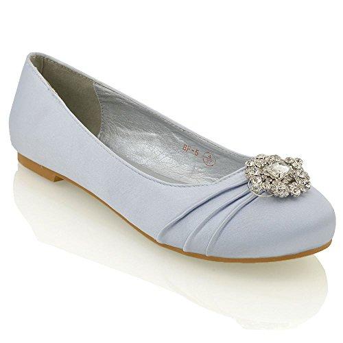 Essex glam scarpa donna decolleté da sposa argento in raso eu 40