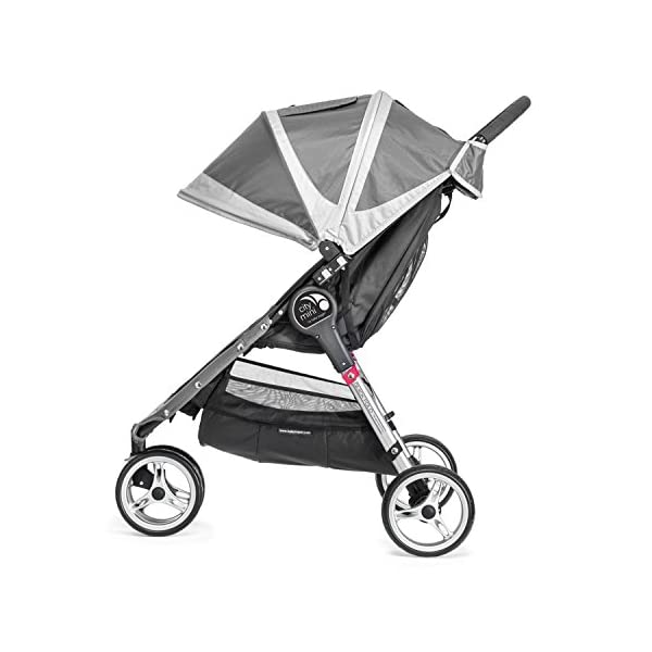 Baby Jogger City Mini Single Stroller Steel Grey Baby Jogger Suitable from birth, the City Mini Stroller is the essence of urban mobility: Lightweight, compact and nimble, its sleek and practical design makes it an ideal choice for traversing the urban jungle Lift a strap with one hand and the City Mini folds itself: Simply and compactly, it really is as easy as it sounds and the auto-lock will lock the fold for transportation or storage The fully reclining with vents and a retractable weather cover to make sure that your child is comfortable and safe as they watch the world go by the SPF 50+ hood canopy has two peek-a-boo windows so you can keep an eye on your precious cargo 2