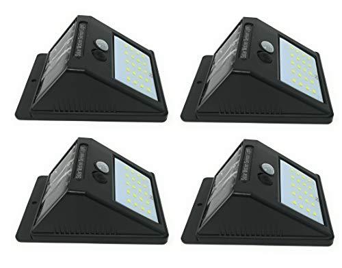 4 PZ faretto 20 led sensore movimento pannello solare ricaricabile luce esterno