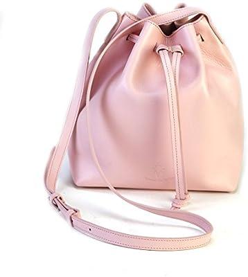 Bolso rosa de mujer 100% piel,hecho en Ubrique/Pink bag 100%leather handmade in Spain