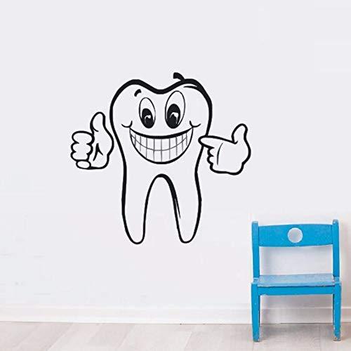 Fushoulu 42X40 Cm Zahn Wandtattoo Zahnpflege Vinyl Wandaufkleber Bad Stomatologie Dekoration Zahnpflege Removable Wandbild