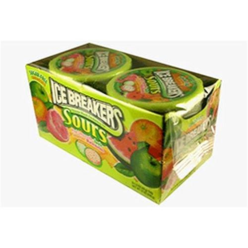 Ice Breakers Mints - 5 Sorten - Cinnamon, Coolmint, Wintergreen, Sours, Green Apple, Watermelon, Tangerine, Mixed Berry, Strawberry, Cherry - Sugar Free - 8x42g (Sours - Green Apple, Watermelon, Tangerine) -