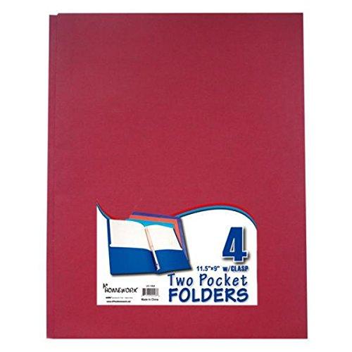 Bulk Buys Zwei Pocket Ordner mit 3gurthalteband-4pack-asst.-Fall von 48 (Drei Ordner Pocket)