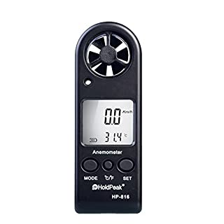 Handheld Anemometer Wind Speed Meter With Lanyard & Carry Case