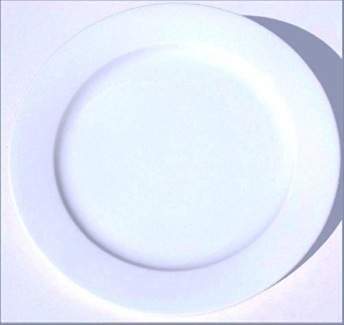 Star Bopla. Porcelaine Black & White Série 1Maxi Assiette-Maxi Assiette-Maxi Piatto-Maxi Plate-Maxi Plato Diamètre Ø 31cm, 12-1/4dans - blanc, 31cm