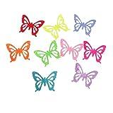 Sharplace 100 Stück Filzstoff Bastelfilz Filz Schmetterling Polyester Felt Fabric Schmetterling - Mehrfarbig1