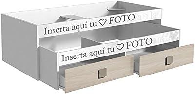 Cama nido juvenil, PERSONALIZADO CON TU FOTO, Girasol 1000x2040x680mm