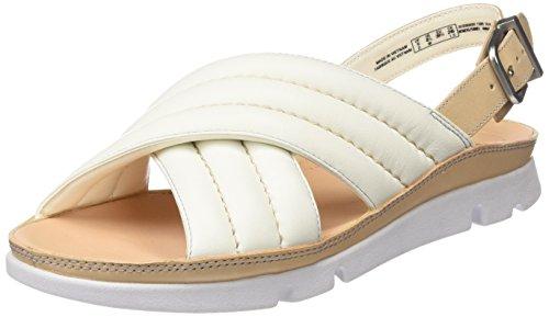 Clarks Damen Tri Nora Flat Slingback Sandalen, Weiß (White Leather), 35.5 EU