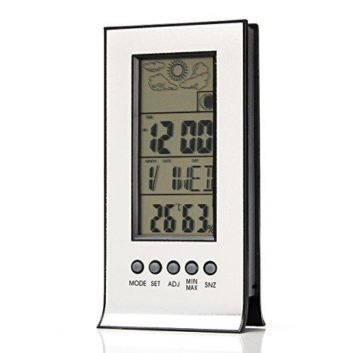 ChaRLes Uhr + Lcd Digital Day Hygrometer Feuchtigkeit Thermometer Temperatur Meter Indoor
