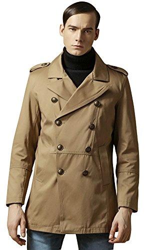Valuker Herren Trenchcoat Mantel FY69002 Khaki