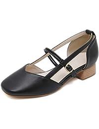 Merceditas Mujer Amazon Zapatos esSandalias Tacon 39 Negras gY7mI6vbfy