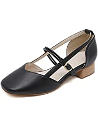 Amazon esSandalias Merceditas 39 Negras Tacon Zapatos Mujer 29ebHWEDIY