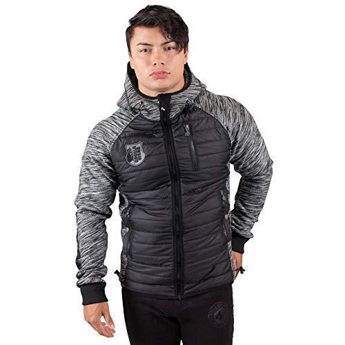 Gorilla Wear Paxville Jacket Black/Gray Lime - schwarz/grau Limette - Bodybuilding und Fitness Jacke für Herren, M