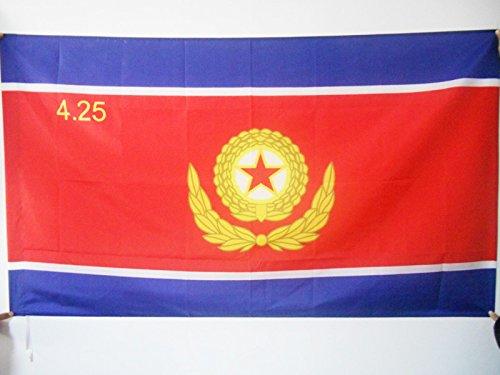 DRAPEAU ARMÉE POPULAIRE DE CORÉE DU NORD 90x60cm - DRAPEAU ARMÉE NORD CORÉENNE 60 x 90 cm Fourreau pour hampe - AZ FLAG