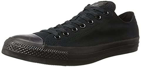 Converse All star ox, Herren Casual Sneakers,Schwarz (Black Mono), 39.5