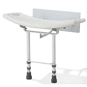Wand-Duschsitz umklappen mit den Beinen