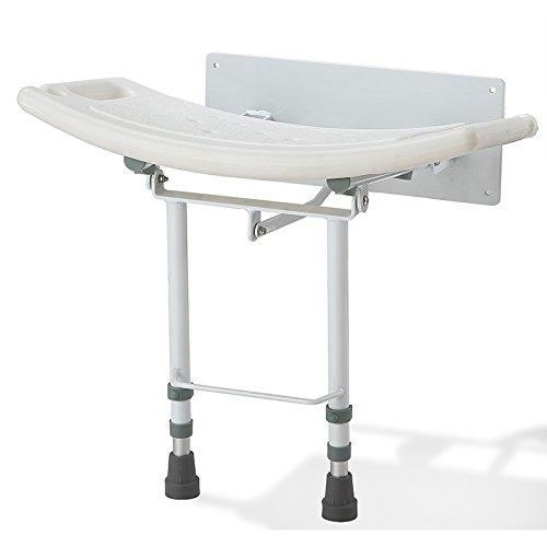 Pieghevole Parete Sedile doccia con piedini regolabili