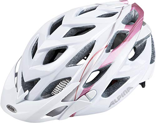 ALPINA Damen D-Alto Fahrradhelm White-Rose-Gold, 52-57 cm