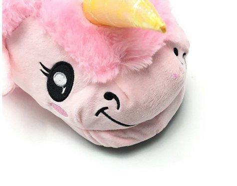 Unicorn Einhorn Plüsch Hausschuhe Pantoffeln Schuhe für Kinder / Erwachsene Pink