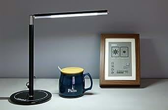 Lampada da Tavolo Dimmerabile, LIHAO 4.5W 24LEDs Lampada da Scrivania Bianco Freddo Adatto per Studio, Scrivania, Camera da Letto