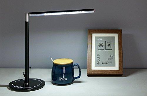LIHAO 24 LED Lámpara de Escritorio Lámpara Mesa Led Regulable (4.5W, Negro)