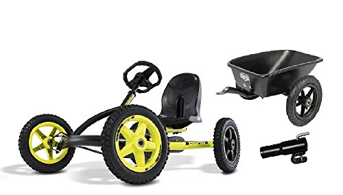 BERG Pedal Go-Kart Buddy Cross mit Anhänger inkl. Kupplung ,0228