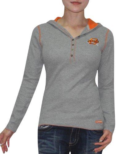 ncaa-oklahoma-state-cowboys-womens-slim-fit-long-sleeve-hooded-shirt-l-grey