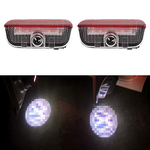 LITTOU Autotür LED Logo Projektion Licht Türbeleuchtung Lampe Willkommens Kompatibel für Golf 5 6 7 2010-2015 Tiguan 2010-2016 CC 2009 2016