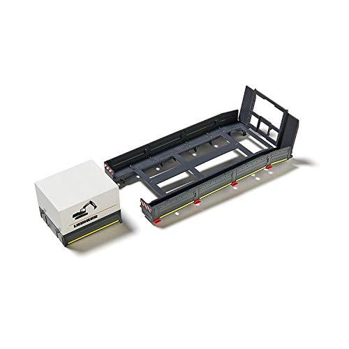 SIKU 6714, Plattformaufbau für SIKU Control Tieflader, 1:32, Kunststoff, Schwarz, Inkl. Rungen, Pritsche und Plane, Für das SIKU Control Set: MAN Zugmaschine mit Tieflader