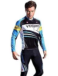 Beydodo Ropa de Ciclismo para Hombre Accesorios de Ropa de Bicicleta Azul Al Aire Libre y