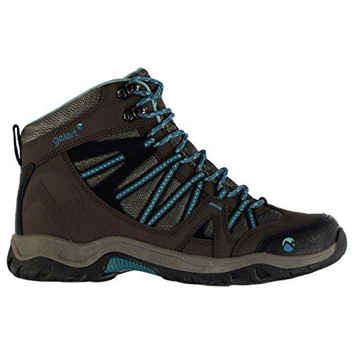 Gelert Damen Ottawa Mid Wanderstiefel Wanderschuhe Trekking Stiefel Outdoor Boots Brown/Teal 6 (39)