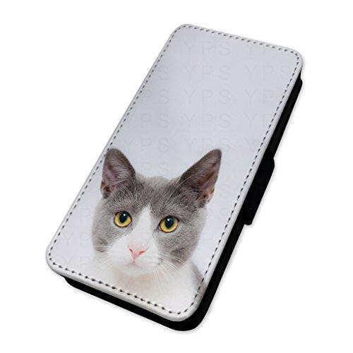 Liebenswürdig, Cat Süße Augen–Flip Tasche Wallet Cover Kartenhalter Apple iPhone 4/4S I Phone 4s Fällen Kartenhalter