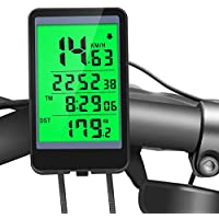 Bicycle Speedometer, Waterproof Wireless Bicycle Bike Computer, Cycling Odometer with Automatic Wake-up Multi-Function LCD Backlight Display