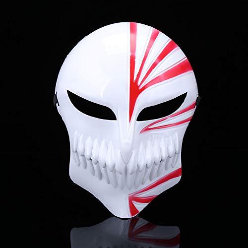 Ghost Face Muster Kostüm - CZDXM Halloween Horror Death Rot Schwarz Maske Full Face Männer und Frauen Maske Ghost Dance Maske Rot One Size