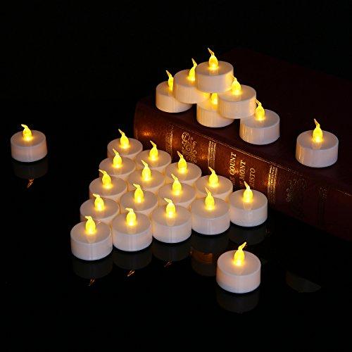 elichter Flammenlose Kerzen, Batteriekerzen Flackernde Flammenlose Kerzen, Elektrische LED Tealight Candle für Weihnachten, Valentines, Hochzeit, Geburtstags, Party, Bar (Verwendet Hochzeit Versorgt)