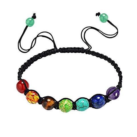 Bracelets, Oyedens 7 Chakra GuéRison éQuilibre Perles Bracelet Bracelet De Yoga
