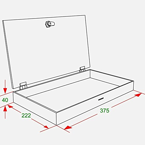 1 COUNTERTOP HIGH GLOSS ACRYLIC DISPLAY BOX / CASE W/ SECURITY LOCK DB017A-01PC by PC3721 (Display Wall-mounted Case)