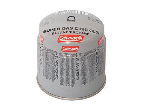 Coleman Gaskartusche C190 GLS, Stechkartusche für Campingkocher, Gaskartusche mit 80-20 Butan-Propan Mischung, Füllgewicht 190 g, Einwegkartusche
