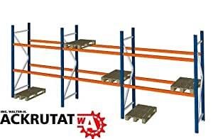SLP B 8,5 m H 2,74 m Palettenregal Hochregal Schwerlastregal Regal Lager 3000 kg