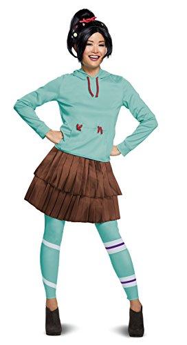 Kostüm Ralph - Disguise Wreck It Ralph 2 Deluxe Vanellope Women's Fancy Dress Costume Medium