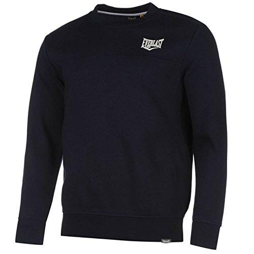 Everlast Herren Sweatshirt Pullover Langarm Rundhals Sport Freizeit Sweater Marineblau