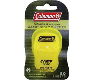Buy Coleman Dish and Hands Camp Soap Sheets, 50 sheets ...