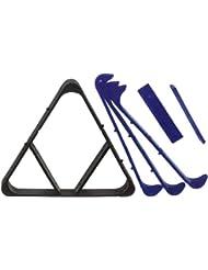 Gamesson Billardtisch Triangle 2-in - 1, Pool, Schwarz