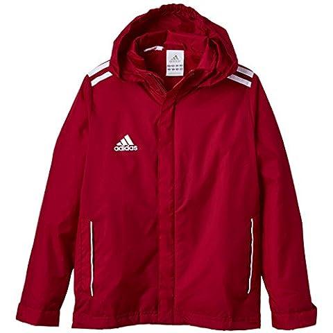 adidas Core 11 - Chubasquero juvenil rot - weiß Talla:116
