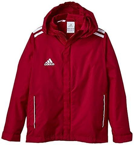 adidas Jungen Bekleidung Core 11 Regen Jacke Junior, Unired/White, 128, V39442