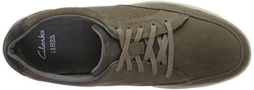 Clarks Stafford Park5, Chaussures de ville homme Gris (Grey Nubuck)