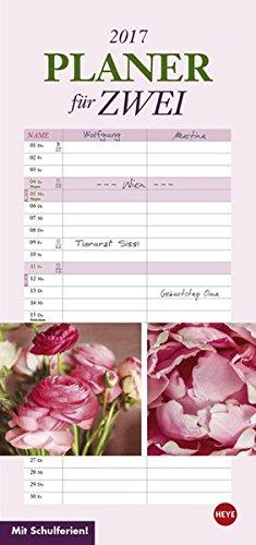 Blumen Planer für zwei - Kalender 2017