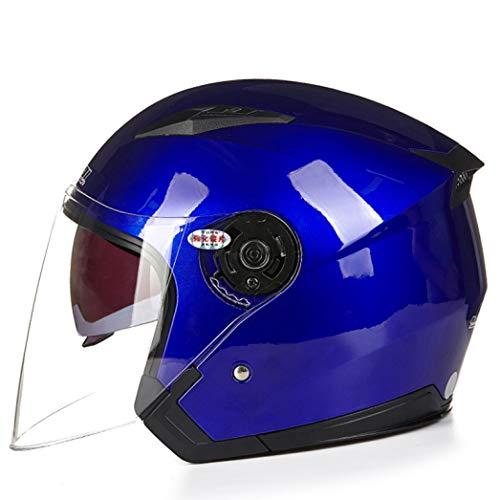 OLEEKA Casco moto unisex scooter motos casco casco capacete con visiera a doppia lente caschi per moto